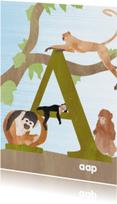 Dierenkaarten - A van aap
