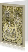 Kunstkaarten - Affiche Delftsche Slaolie