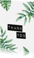 Bedankkaartjes - Ansichtkaart 'Thank you'