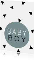 Baby -  Baby Boy - Driehoekjes Denim Blue