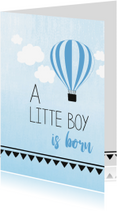 Felicitatiekaarten - Baby boy is born...