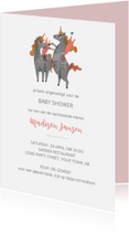 Uitnodigingen - Babyshower uitnodiging unicorn