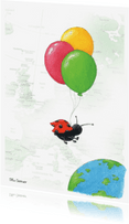 Verjaardagskaarten - Ballon 2 Illu-Straver