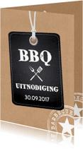 Uitnodigingen - BBQ uitnodiging kraft LB20
