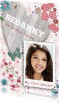 Communiekaarten - Bedankkaart Communie Vrolijk Bloemen