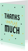 Bedankkaartjes - Bedankkaart driehoekjes hart