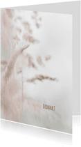 Rouwkaarten - Bedankkaart overlijden grassen