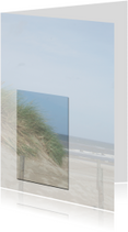 Rouwkaarten - Bedankkaart rouw met duinen