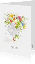 Bedankkaartjes - Bedankkaartje een bloemetje voor jou!