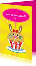 Bedankkaartjes - Bedankt Cupcake - TW