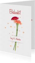 Trouwkaarten - Bedankt trouwen bloemen RB