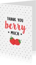Bedankkaartjes - Bedanktkaart Aardbei