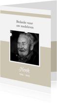 Rouwkaarten - Bedanktkaart na overlijden (kleur naar keuze)