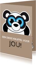 Beterschapskaarten - Beterschap knuffel panda - MG