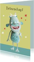 Beterschapskaarten - Beterschapskaart kind monster