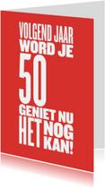 Verjaardagskaarten - bijna 50 nog een jaar