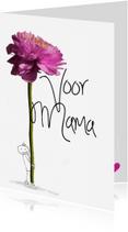 Moederdag kaarten - Bloem voor Mama