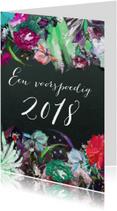 Nieuwjaarskaarten - Bloemen kunst print