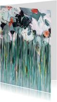Bloemenkaarten - Bloemen Morgen schilderij