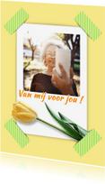 Bloemenkaarten - Bloemenkaart selfie tulp RB1