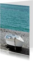 Condoleancekaarten - Boot op het strand