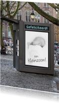Felicitatiekaarten - bord foto geboorte jongen