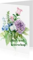 Beterschapskaarten - Bos lente bloemen aquarel 3