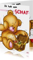 Vaderdag kaarten - bristy vaderdag 2 met schatkist