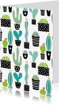 """Vriendschap kaarten - Cactissimo """"Cactus patroon"""""""