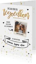 Kaarten mailing - Cadeaubon - goud met foto