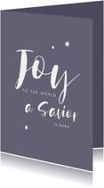 Christelijke kerstkaart handlettering joy tot the world