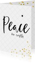 Kerstkaarten - Christelijke kerstkaart met trendy lettertype en confetti