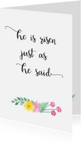Paaskaarten - Christelijke paaskaart bloem