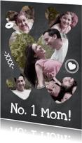 Moederdag kaarten - Collage Krijtbord No. 1 Mom - BK