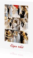 Felicitatiekaarten - Collage trouwkaart - Bruidsparen