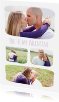 Valentijnskaarten - Collage You're my Valentine - BK