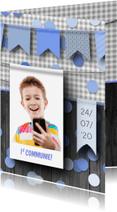 Communiekaarten - Communiekaart feest jongen
