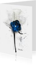 Condoleancekaarten - Condoleance kaart donker blauw