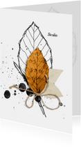 Condoleancekaarten - Condoleance kaart gouden ziel