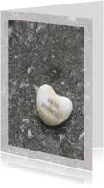 Condoleancekaarten - Condoleance Marmer Hart