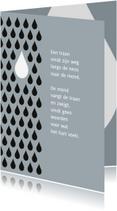 Condoleancekaarten - Condoleance tranen