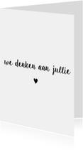 Condoleancekaarten - Condoleancekaart Denken