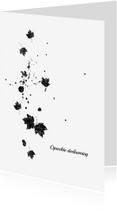Condoleancekaarten - Condoleancekaart falling leaves