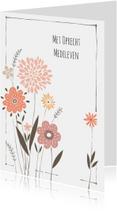 Condoleancekaarten - Condoleancekaart moderne mloem
