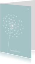 Condoleancekaarten - Condoleancekaart Paardenbloem