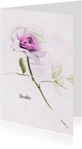 Condoleancekaarten - Condoleancekaart roos gecondoleerd