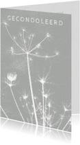 Condoleancekaarten - Condoleancekaart uitgebloeide bloem