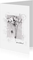 Condoleancekaarten - Condoleancekaart white painted flowers