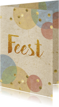 Uitnodigingen - confetti uitnodiging feest