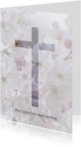 Condoleancekaarten - Deelneming met bloesem -staand-